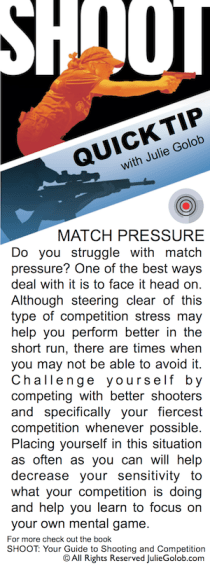 SHOOT Tip - Dealing with Match Pressure