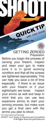 SHOOTing Tip - Prepping to Zero