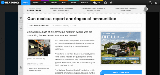 USA Today - Ammo Crisis