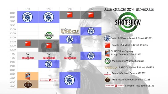 2014 SHOT Show Show Schedule