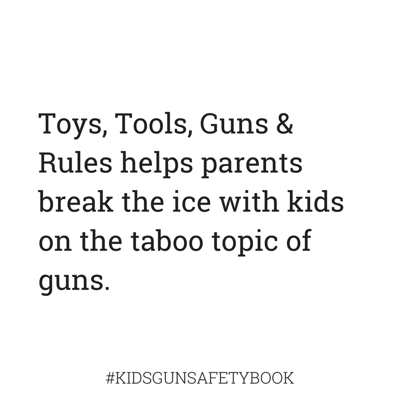 Break the ice on the topic of guns with kids #kidsgunsafetybook