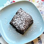 Chocolate Cherry Almond Brownies (gluten-free & vegan)