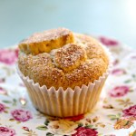 Amazing Peach Cinnamon Sugar Muffins (gluten-free & vegan)!