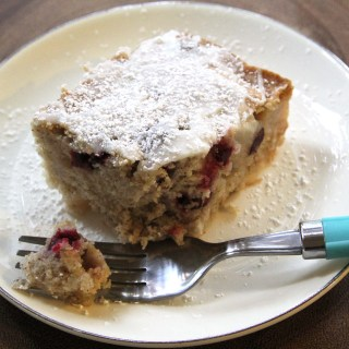 Gluten-Free Cranberry Pear Spice Cake