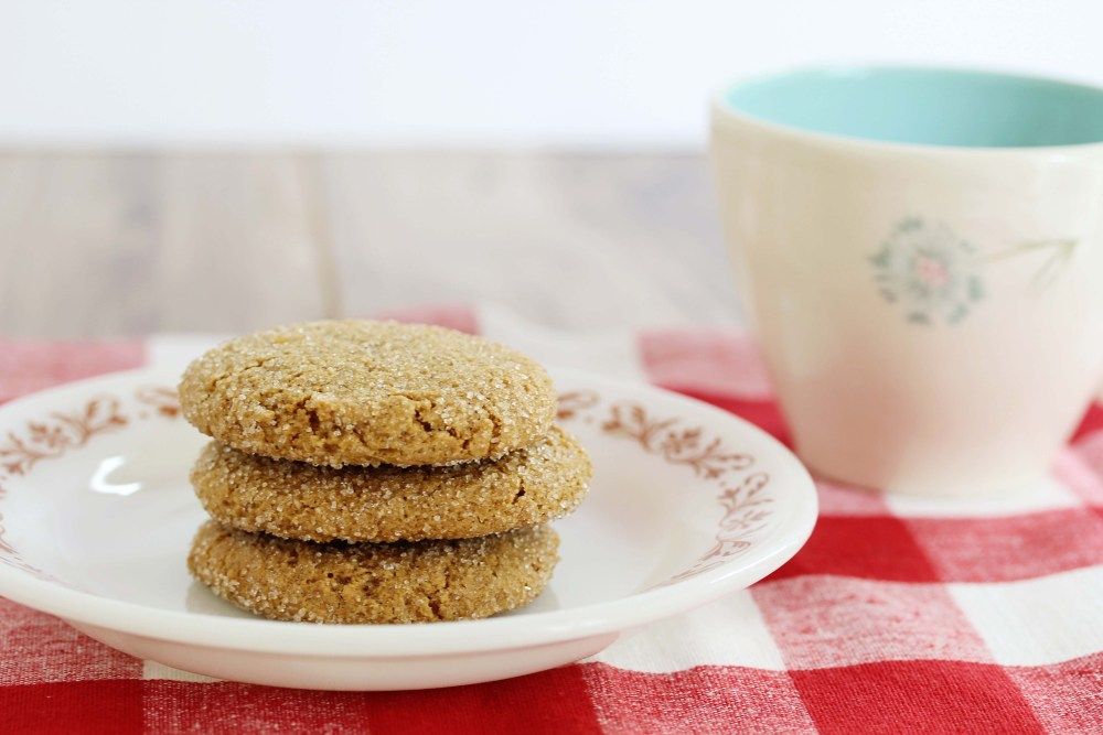 gluten-free, vegan, ginger molasses cookies