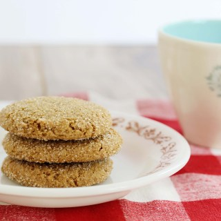 Soft & Chewy Gluten-Free Vegan Ginger Molasses Cookies