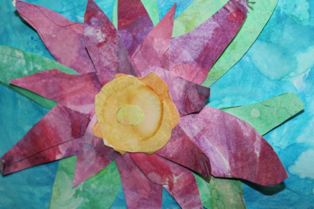 my child's water color flower