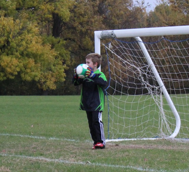 kid soccer goalie