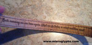 Mieroglyphs inscribed bracelet