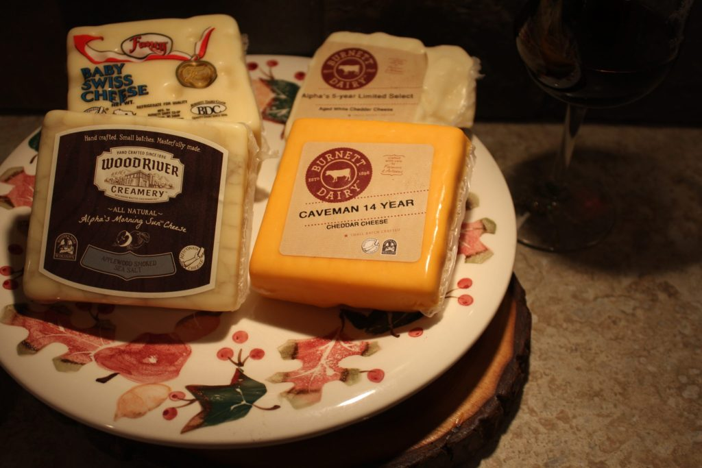 Four blocks of cheese