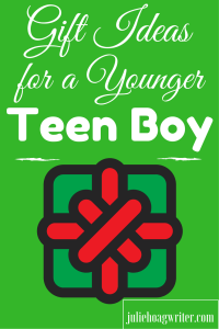 Gift Ideas for a Younger Teen Boy. Here is my list of ideas a younger teen boy would love!
