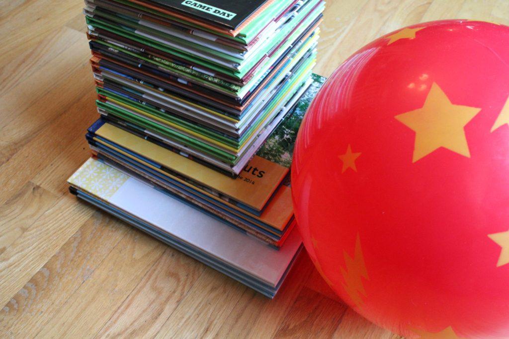 Stack of Shutterfly scrapbooks I've made