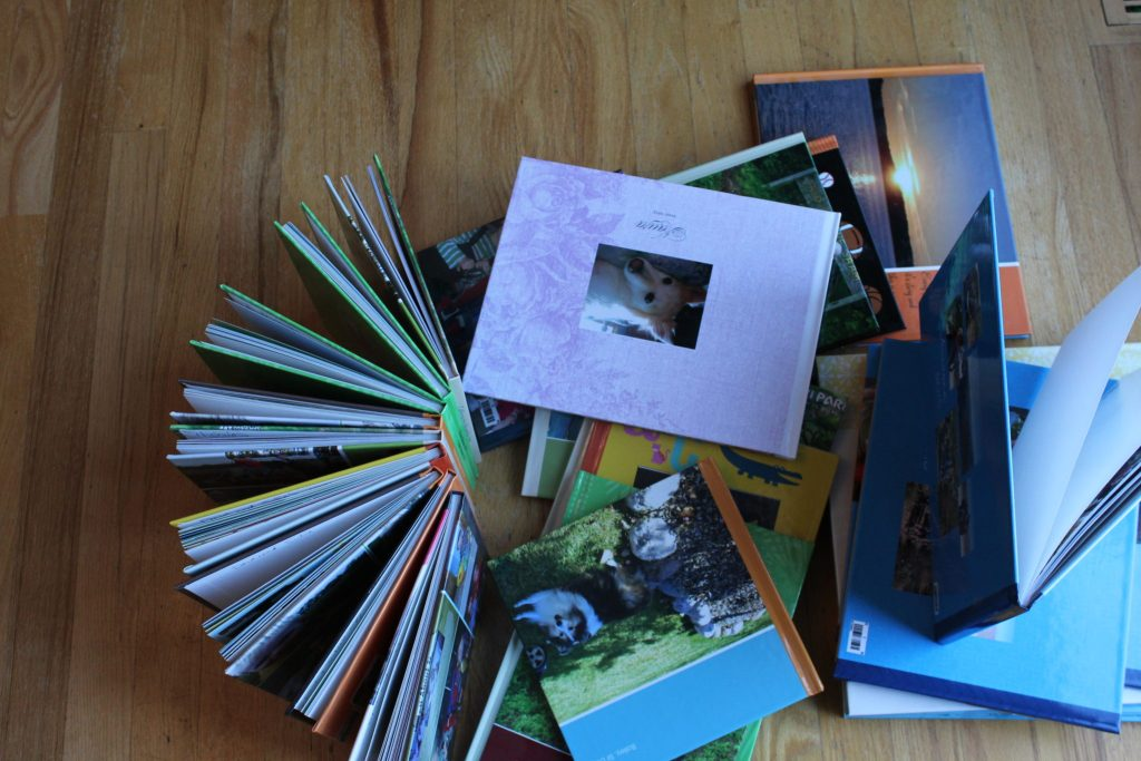 The many scrapbooks I've made using Shutterfly