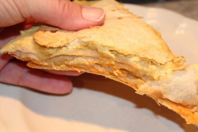 Slice of Hummus Artichoke Tortilla Stack Sandwich