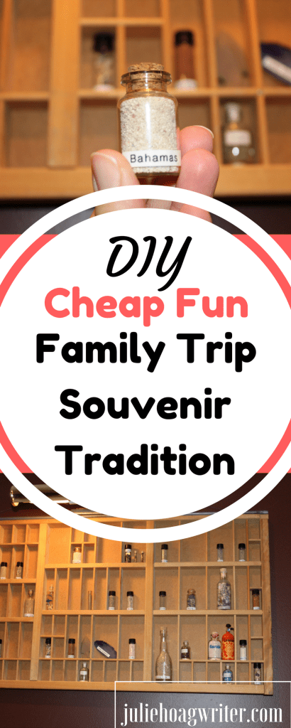 This DIY Cheap Fun Family Trip Sounvenir Tradition using vials and a shadow box is fun for the whole family. It is an inexpensive and easy way to accomplish family vacation souvenirs. family travel   family travel ideas   family vacation   DIY   family vacation ideas   family fun   souvenir