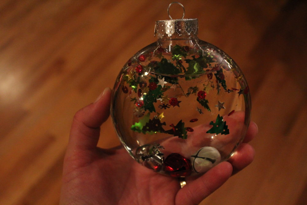 Christmas themed corn syrup decoration