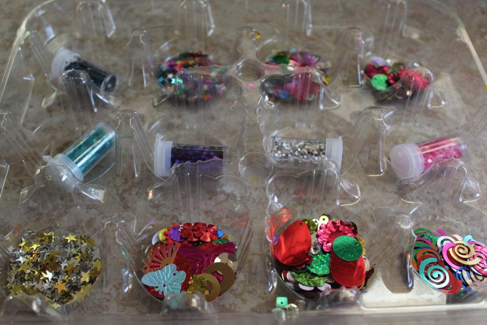 Cupcake tray of spangles