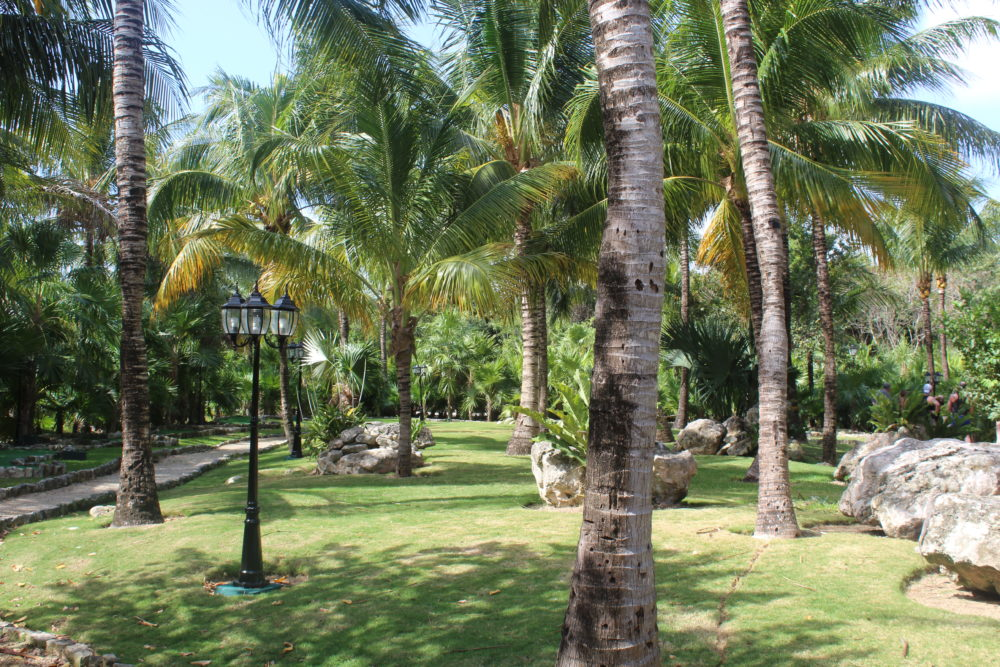 Mini golf course at Palladium all-inclusive resort in Riviera Maya, Mexico.