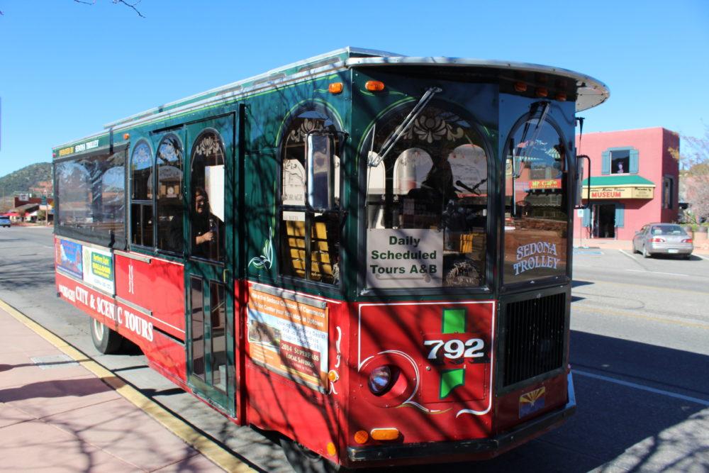 Trolley ride in Sedona Arizona
