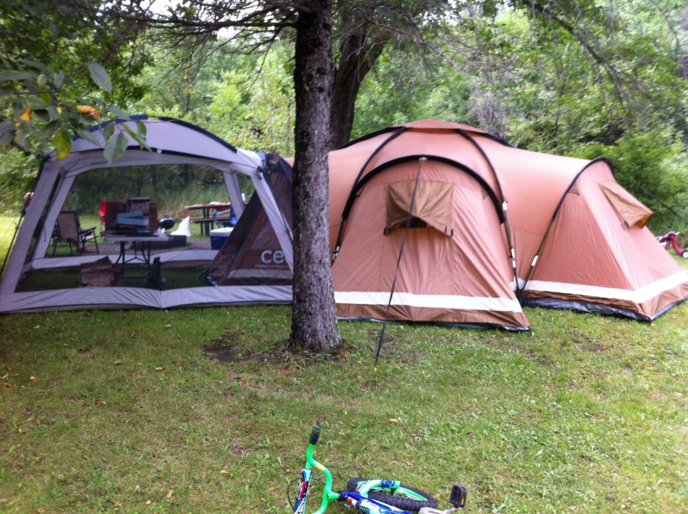 Tent and screen tent for family camping