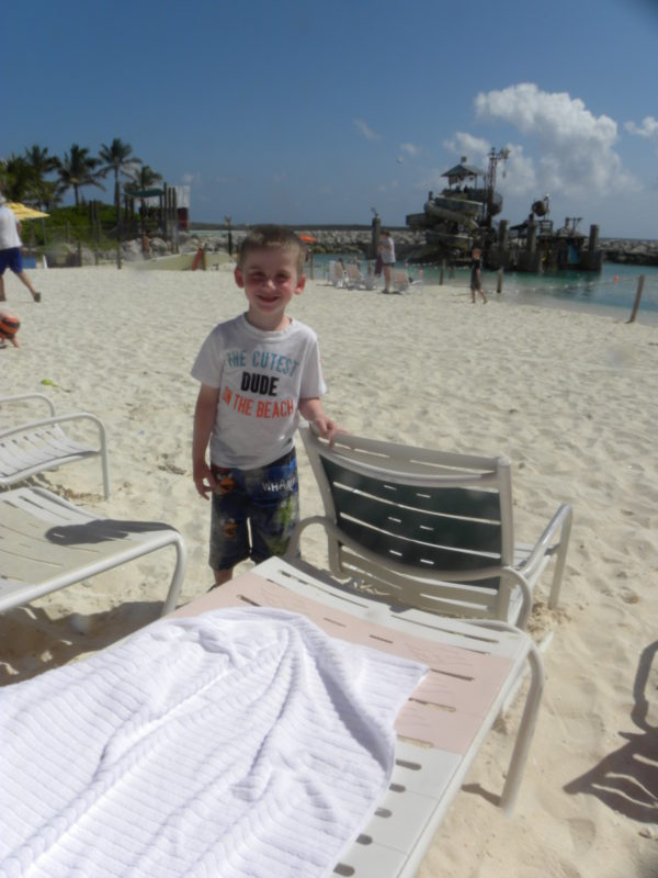 Child at Castaway Cay Disney's private exclusive island destination. Travel. Family fun.