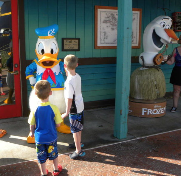 We met Donald on the island first!