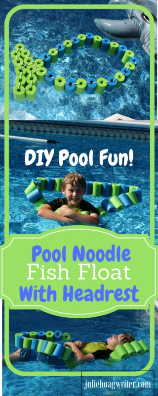 DIY Pool Noodle Fish Float With Headrest-pool noodle ideas-swimming pools-inground pool-noodle crafts-pool noodles-pool ideas-pool toys-pool toys for kids-pool floats-pool floats for adults-swimming pools-swimming pool ideas-swimming pool backyard-pool play-pool fun for kids-pool fun ideas-swim floats kids-swim floats summer-kids-family @juliehoagwriter.com
