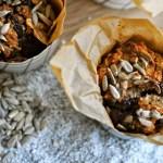 Rugbrødsmuffins med chokolade