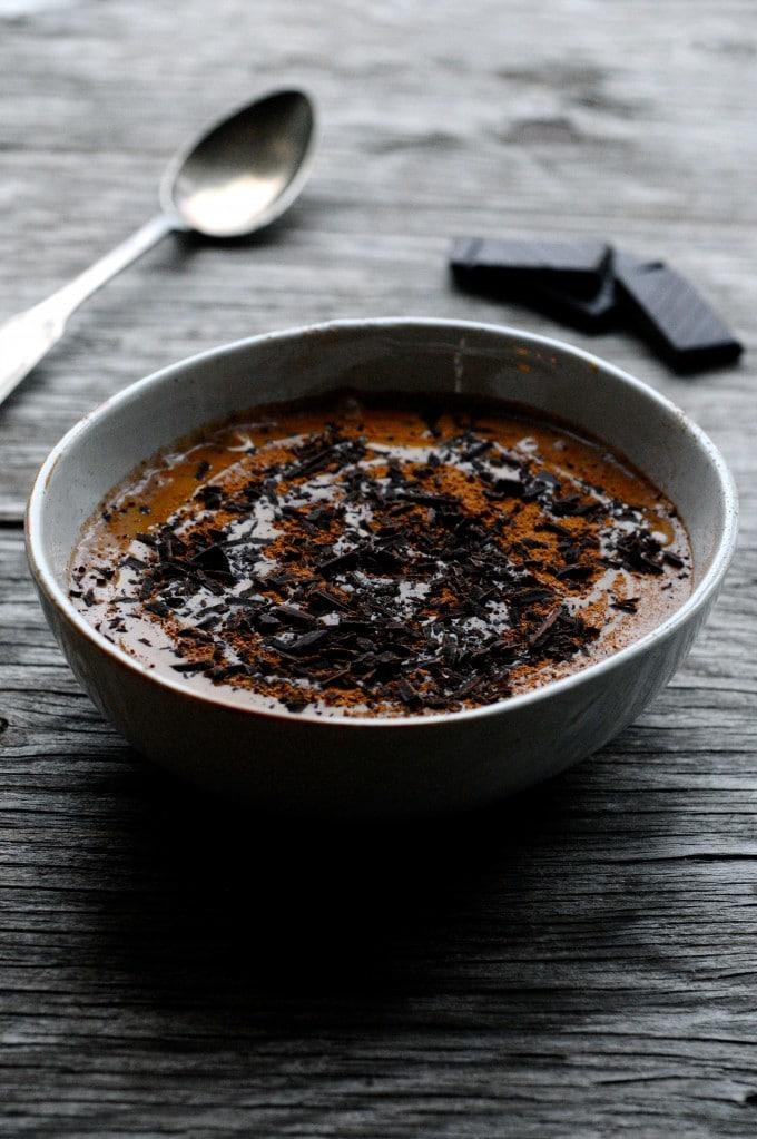 Chiagrød med chokolade og hasselnøddesmør | www.juliekarla.dk