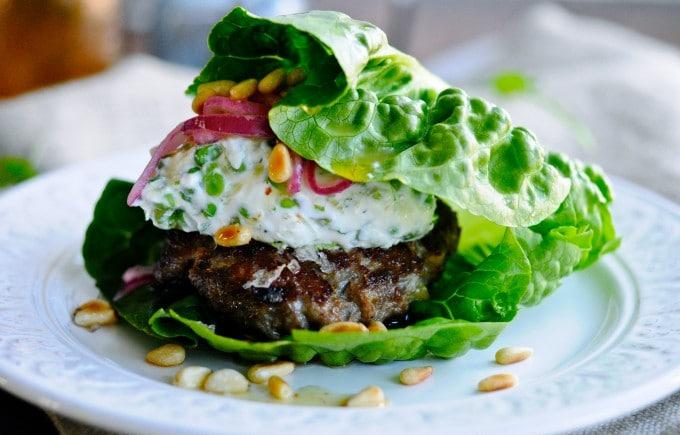 Sund burger opskrift med lammekød | www.juliekarla.dk