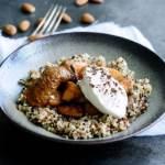 Quinoa med bagte æbler