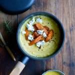 Polenta opskrift med bagte gulerødder og gedeost
