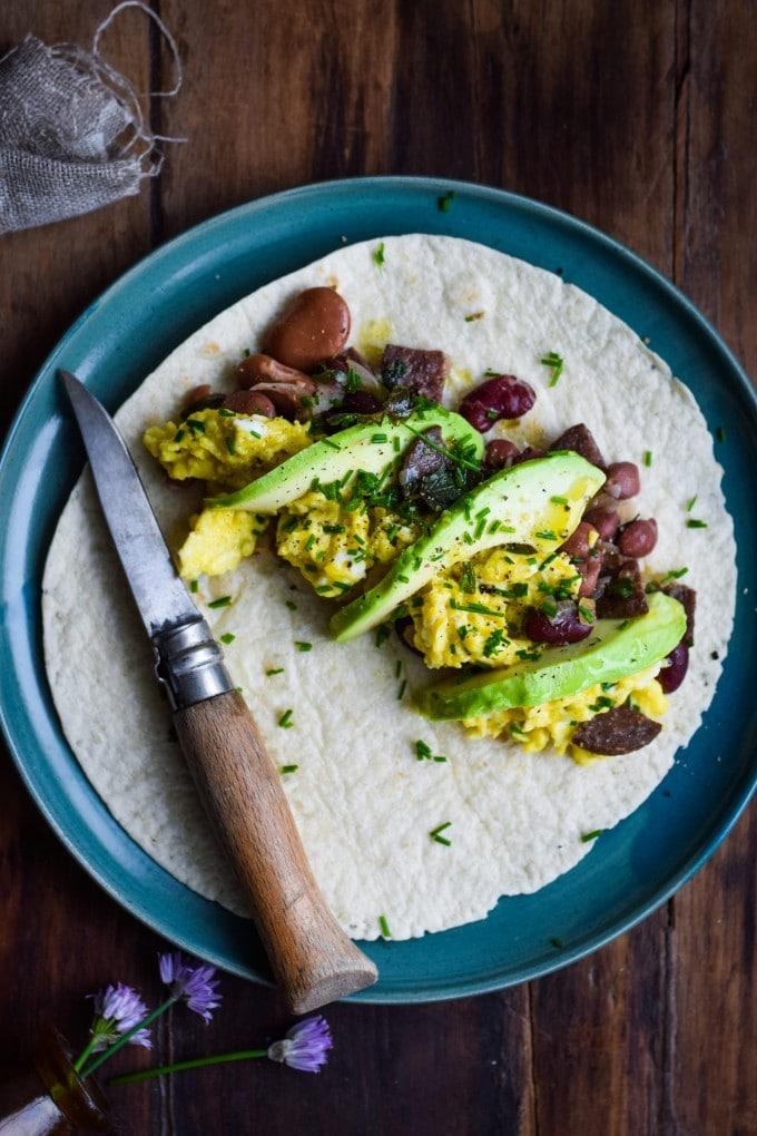 burrito opskrift med scrambled egss