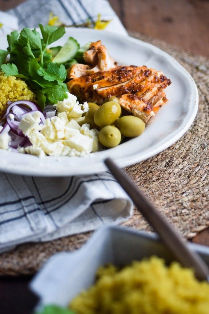 quinoa salat med kylling