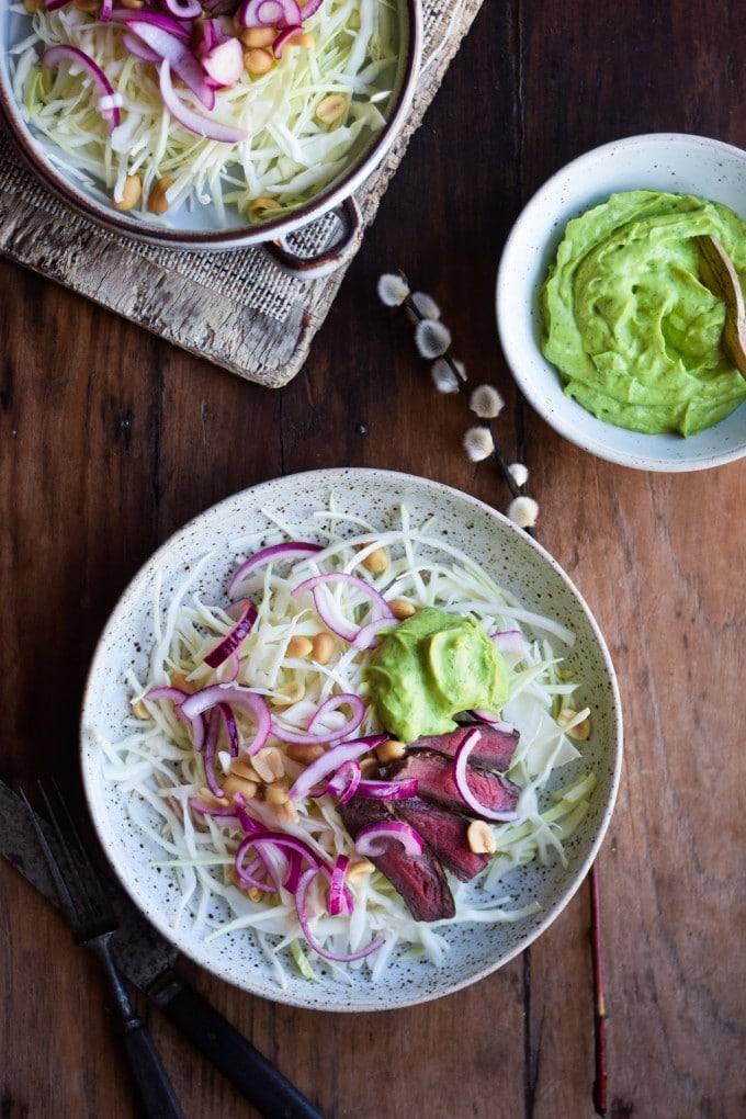 Steak salat til frokost