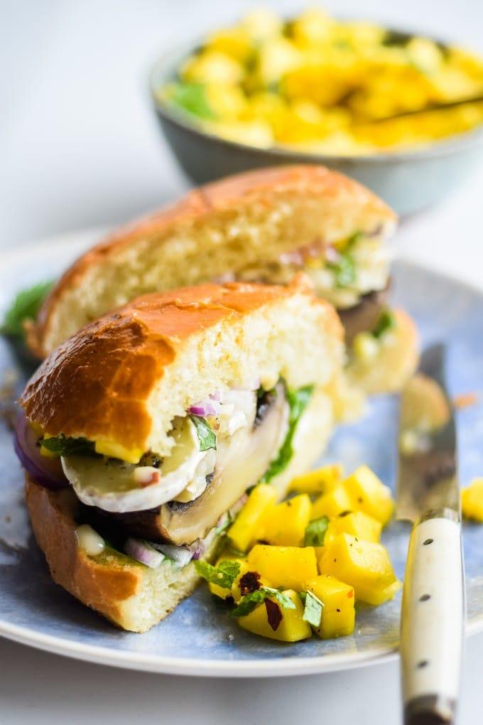 vegetar burger med portobello svampe