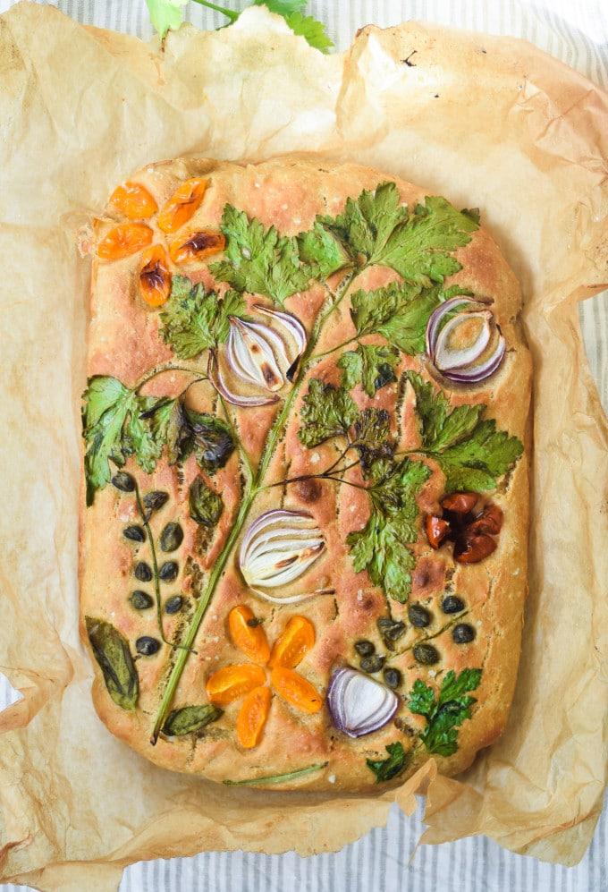 foccaciaart på Foccacia brød opskrift