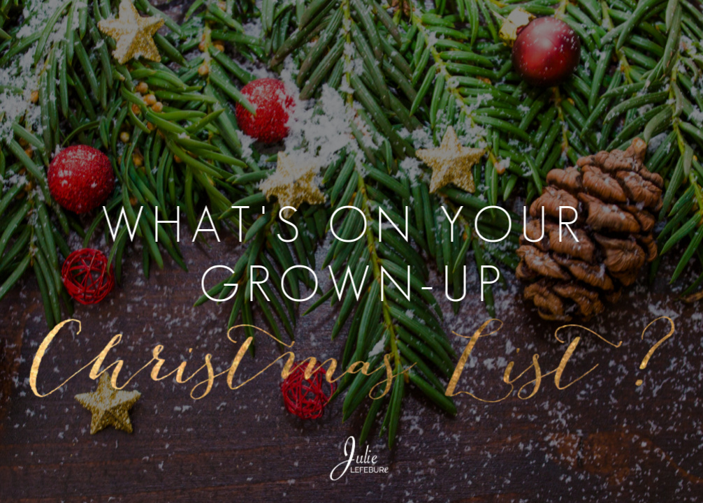What's on your grown up Christmas list?