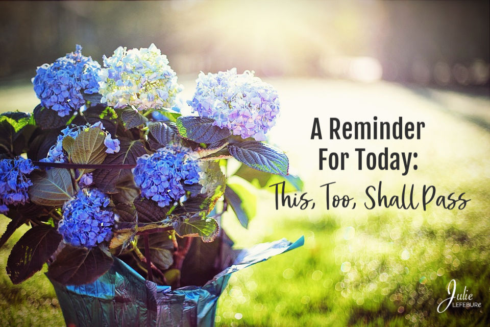 A Reminder For Today: This, Too, Shall Pass