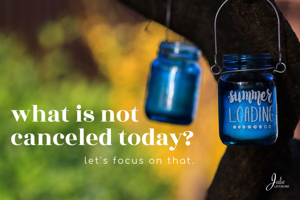 What is not canceled today? Let's focus on that.