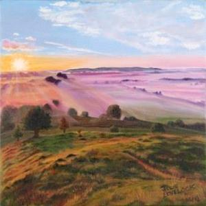 Burrow Mump   Oil on Canvas by Julie Lovelock