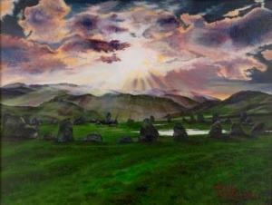 Castlerigg Stone Circle | Oil on Canvas by Julie Lovelock