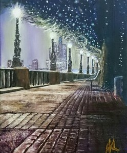 London Light   Oil on Canvas by Julie Lovelock