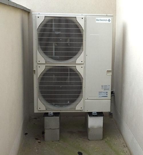 le module extérieur d'une pompe à chaleur