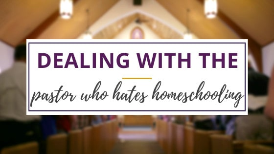 inside of a church sanctuary with a pastor who hates homeschooling