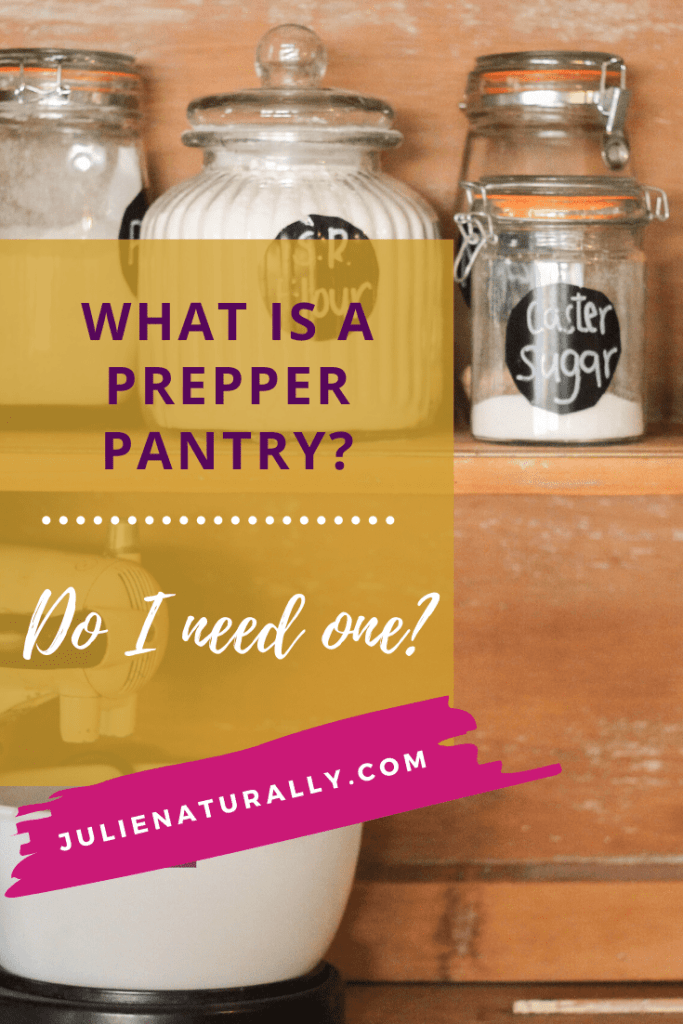 a preppy pantry with jars of flour and sugar
