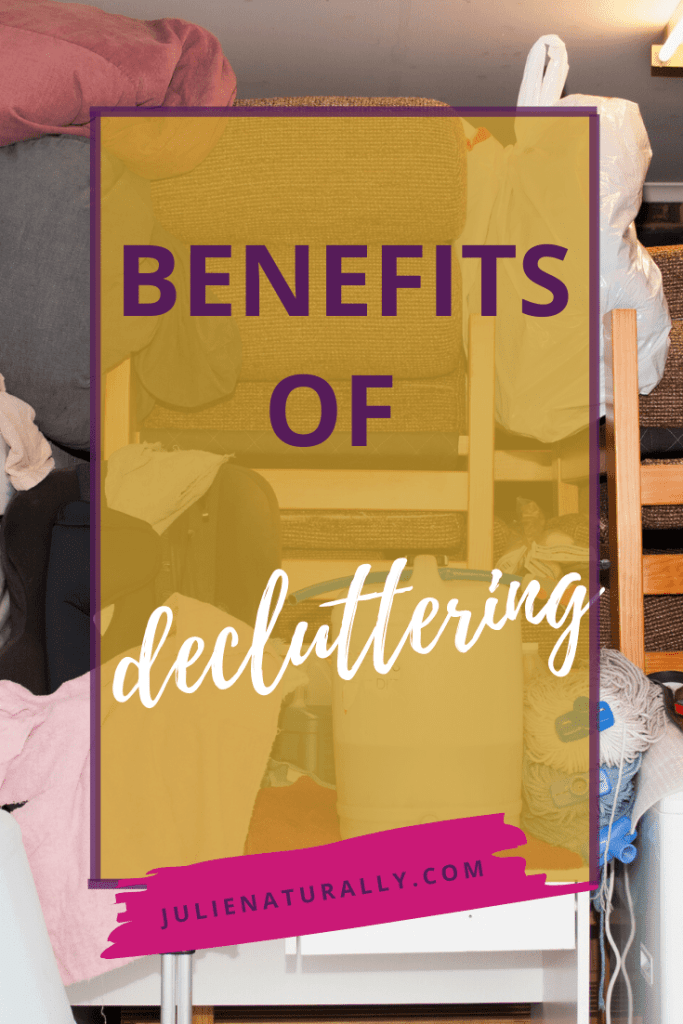 a garage piled high with stuff shows why you should declutter