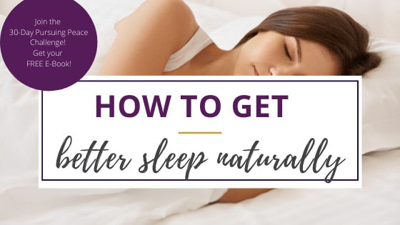 a woman showing how to get a good night sleep naturally