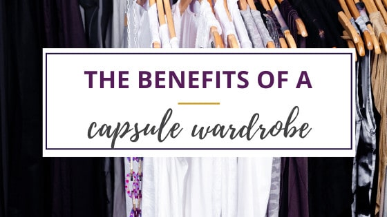 a capsule wardrobe with black and white clothing items