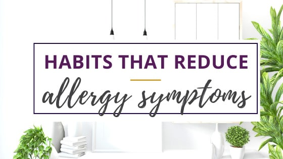 a decluttered room and essential oil diffuser show how to reduce allergy symptoms with daily habits